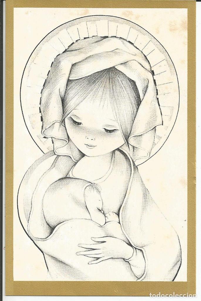 POSTAL NAVIDAD MARTA RIBAS - EUROCROMO 717/3 - AÑO 1968 - DIPTICA, 18X11,5 CM (Postales - Postales Temáticas - Navidad)