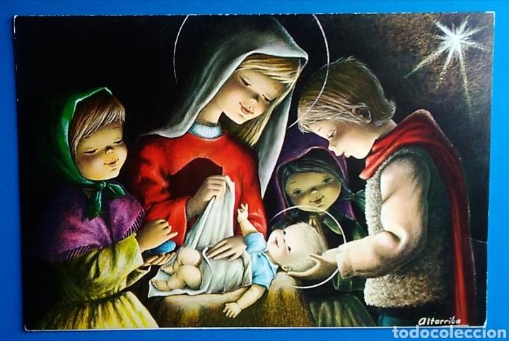 TARJETA DIPTICO FELICITACIÓN NAVIDAD ILUSTRA ALTARRIBA NO ESCRITA / 13,5 X 20 CM (Postales - Postales Temáticas - Navidad)