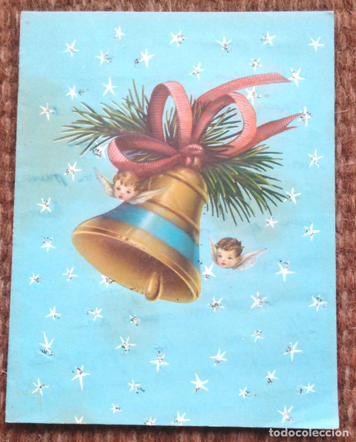 TARJETA FELICITACION DE NAVIDAD TROQUELADA - ILUSTRACION LOPEZ (Postales - Postales Temáticas - Navidad)