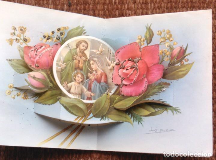 Postales: TARJETA FELICITACION DE NAVIDAD TROQUELADA - ILUSTRACION LOPEZ - Foto 2 - 171579438