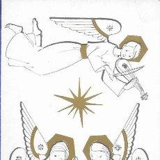 Postales: FELICITACION NAVIDAD PRUDEN * ANGELITOS CON EL NIÑO JESÚS *1964 (18 X 10). Lote 171710057