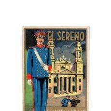 Postales: EL SERENO FELICITA A V.LAS PASCUAS DE NAVIDAD. Lote 172017475