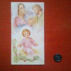 Postales: TARJETA DE NAVIDAD. LA SAGRADA FAMILIA. Lote 172588050