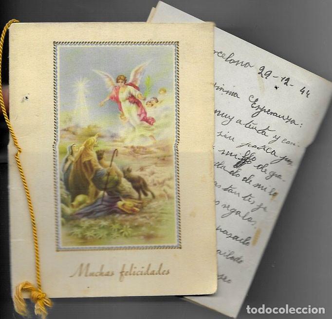 FELICITACION NAVIDAD * ANGEL ANUNCIANDO A LOS PASTORES* AÑO 1944 (Postales - Postales Temáticas - Navidad)