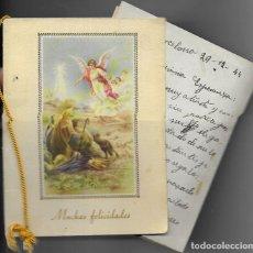 Postales: FELICITACION NAVIDAD * ANGEL ANUNCIANDO A LOS PASTORES* AÑO 1944. Lote 172832699