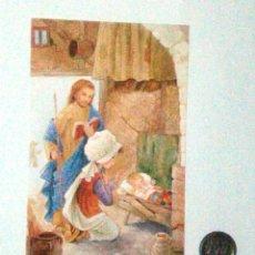 Postales: TARJETA NAVIDAD. LA SAGRADA FAMILIA. Lote 172967189