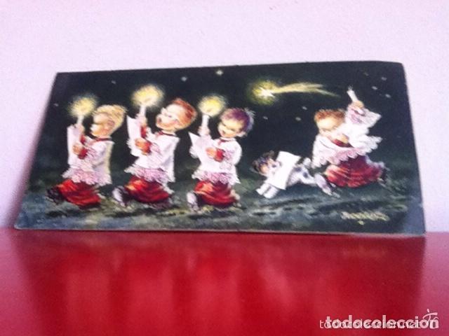POSTAL ( DIPTICO ) FERRANDIZ AÑOS 60. ( 22 X 11 CM ) (Postales - Postales Temáticas - Navidad)