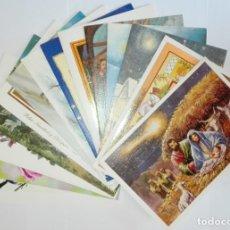 Postales: 14 POSTALES DIPTICOS ASOCIACION PINTORES CON LA BOCA Y EL PIE SIN CIRCULAR. Lote 173392909
