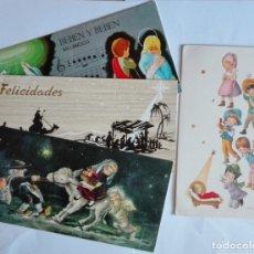 Postales: 4 TARJETAS, DIPTICOS ESCRITAS EN 1961 - 62 - 70 . Lote 173393107