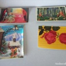 Postales: LOTE 4 POSTALES VARIADAS EN 3D, ESTEREOSCOPICAS, RELIEVE. Lote 173393154