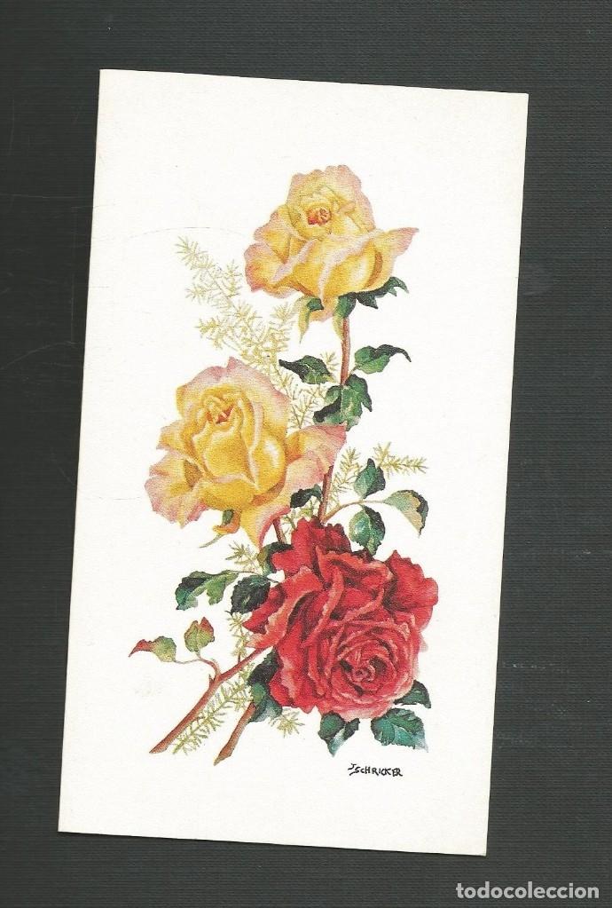 FELICITACION NAVIDAD SIN CIRCULAR EDITA ARTIS MUTI 18.284 ROSAS (Postales - Postales Temáticas - Navidad)