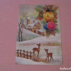 Postales: POSTAL DIPTICA DE NAVIDAD. ED. EDICROMO. Nº 7762/2. ESCRITA 1985. 17X11,5 CM.. Lote 174043392