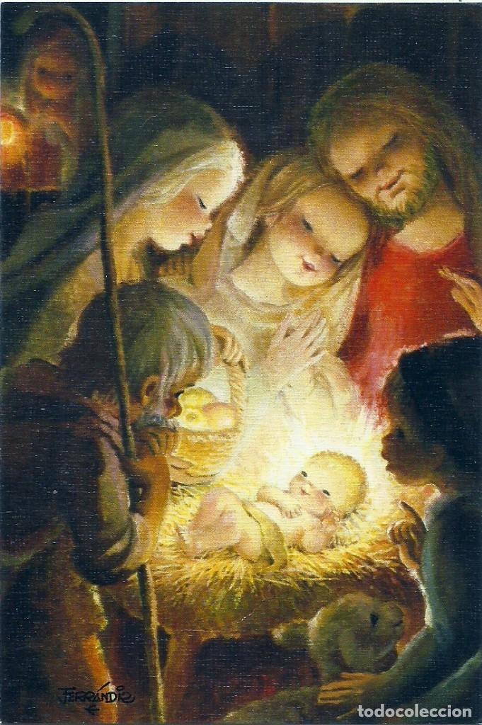 FERRÁNDIZ - EDICIONES SUBI A.1779.1- DIPTICA 13,8X9,5 CM - F59 (Postales - Postales Temáticas - Navidad)