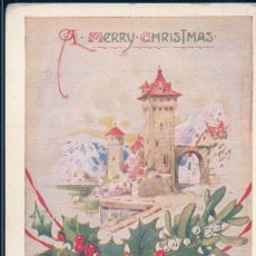 Postales: POSTAL A MERRY CHRISTMAS - FELIZ NAVIDAD. Lote 174935397