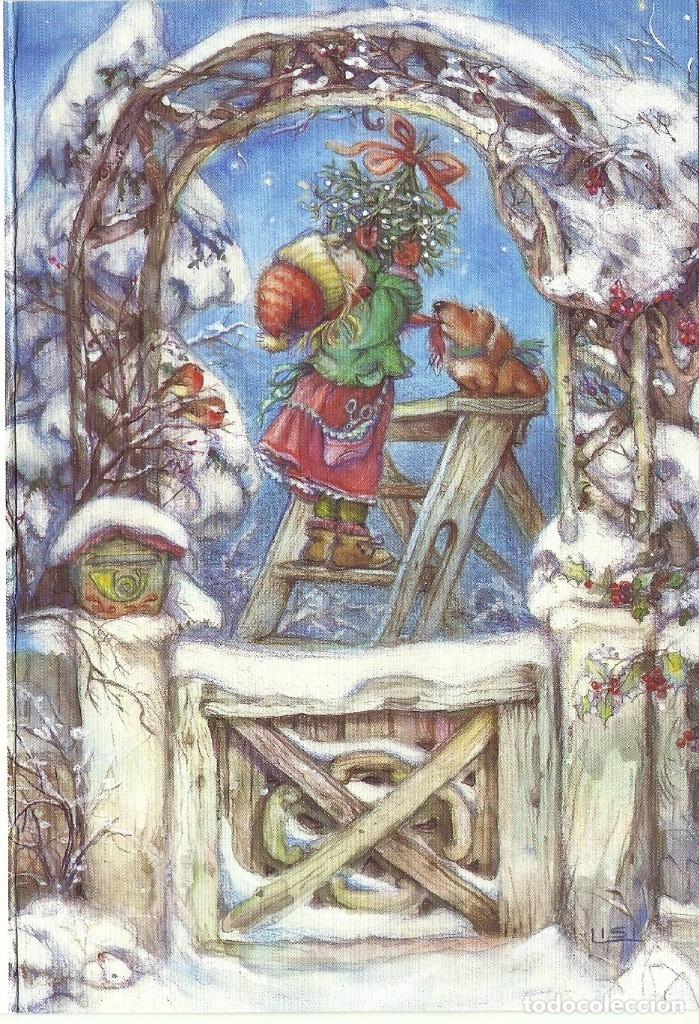 0823Ñ - LISI MARTIN - PICTURA GRAPHICA -DIPTICA 17X11,5 CM (Postales - Postales Temáticas - Navidad)