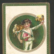 Postales: FELICITACION ANTIGUA DE NAVIDAD-FELIX TRIAN AÑO 1912-VER REVERSO-(61.980). Lote 175544059