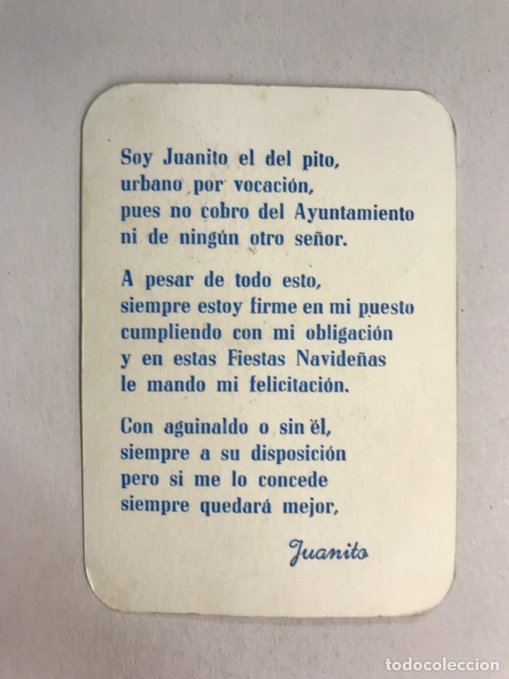 Postales: FELICITACIÓN NAVIDEÑA. Soy Juanito el del pito, urbano por vocación......(h.1950?) - Foto 2 - 175918854