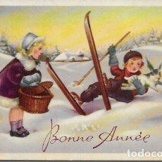 Postales: POSTAL NAVIDAD * NIÑOS EN LA NIEVE * . Lote 176352475