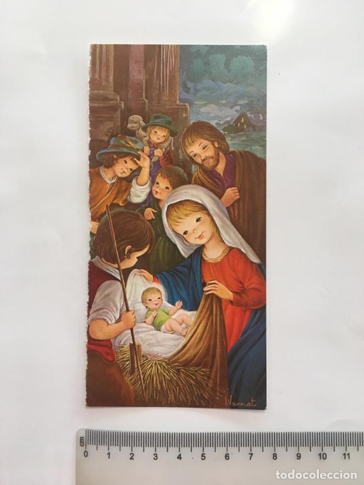 FELICITACIÓN NAVIDAD. ILUSTRACIÓN I. VERNET. H. 1975?. (Postales - Postales Temáticas - Navidad)