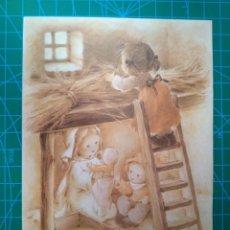 Postales: ORTIZ X424 - 1982 - NACIMIENTO DE JESUS - ILUSTRA MARIA - POSTAL DIPTICA - ESCRITA. Lote 177068350
