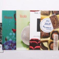 Postales: CONJUNTO DE 5 POSTALES OFICIALES DE CORREOS - ¡FELIZ 2012! - CON FUNDA. Lote 177470633