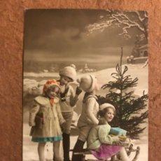 Postales: ANTIGUA TARJETA POSTAL NAVIDEÑA COLOREADA. REGINA N° 116. CIRCULADA EN 1914. 8,7 X 13,7 CMS.. Lote 177845738