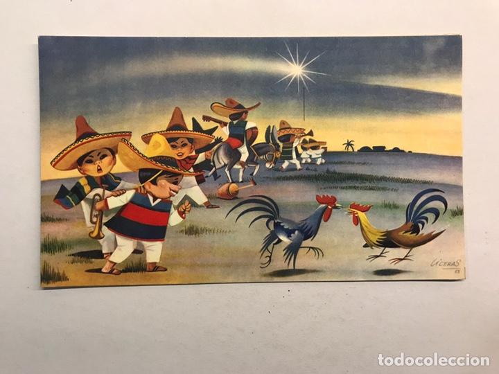 NAVIDAD. FELICITACIÓN NAVIDEÑA ILUSTRADA POR LICERAS, EDITA: CREACIÓNES GILE (A.1962) (Postales - Postales Temáticas - Navidad)