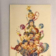 Postales: NAVIDAD. FELICITACIÓN NAVIDEÑA ILUSTRADA POR MATEU? , EDITA: CREACIÓNES GILE (A.1962). Lote 177893283