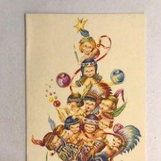 Postales: NAVIDAD. FELICITACIÓN NAVIDEÑA ILUSTRADA POR MATEU? , EDITA: CREACIÓNES GILE (A.1962). Lote 177893337