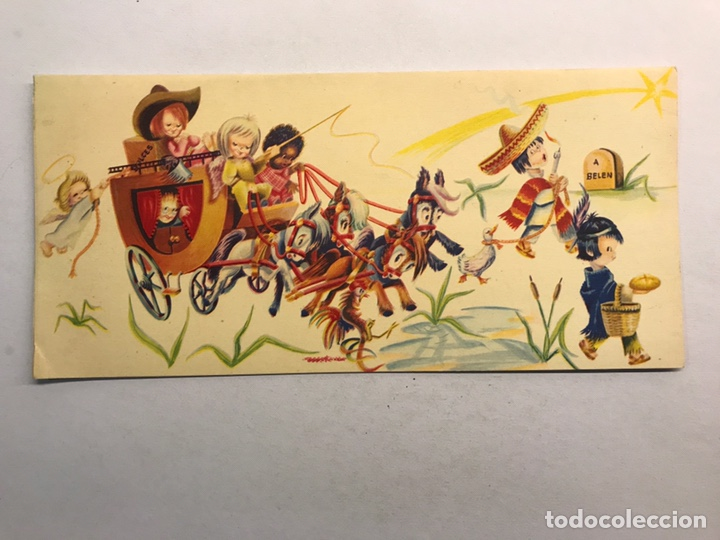 NAVIDAD. FELICITACIÓN NAVIDEÑA ILUSTRADA POR MATEU? , EDITA: CREACIONES GILE (A.1962) (Postales - Postales Temáticas - Navidad)