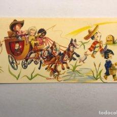 Postales: NAVIDAD. FELICITACIÓN NAVIDEÑA ILUSTRADA POR MATEU? , EDITA: CREACIONES GILE (A.1962). Lote 177894329