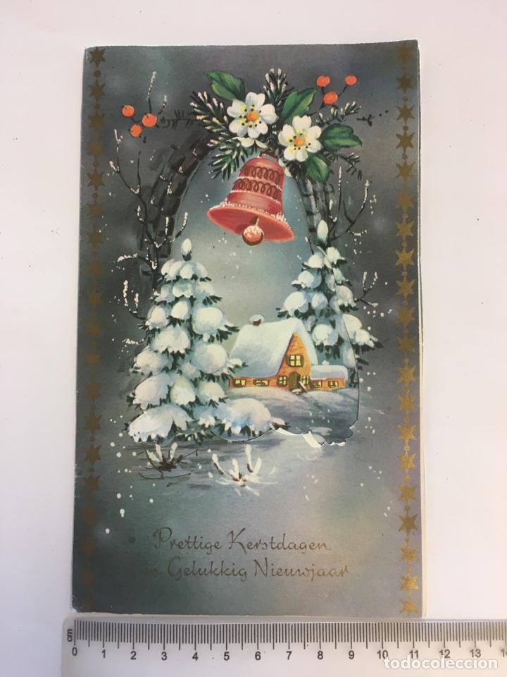 FELICITACIÓN NAVIDAD. DIPTICO DESPLEGABLE. ILUSTRACIÓN?. PRINTED IN GERMANY. H. 1970?. (Postales - Postales Temáticas - Navidad)