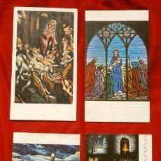Postales: 4 ANTIGUAS FELICITACIONES DE NAVIDAD MARCA ARTIS MUTI - DIPTICAS - ESCRITAS (AÑOS 70) TAMAÑO 16 X 9. Lote 178366811