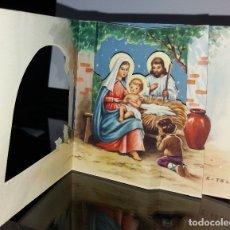 Postales: FELICITACION TROQUELADA NAVIDAD ESTELA * NACIMIENTO * 1961. Lote 178572520