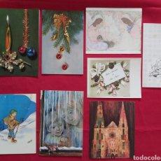 Postales: LOTE POSTALES NAVIDEÑAS AÑOS 50/60. Lote 178656270