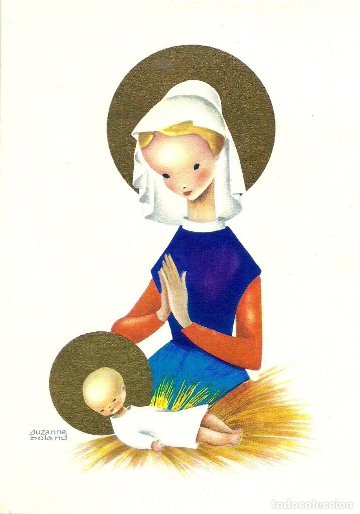 0835M - SUZANNE BOLAND - EDICIONES FRANÇOIS WAHL REF. 202 - DIPTICA 16,7X11,7 CM (Postales - Postales Temáticas - Navidad)