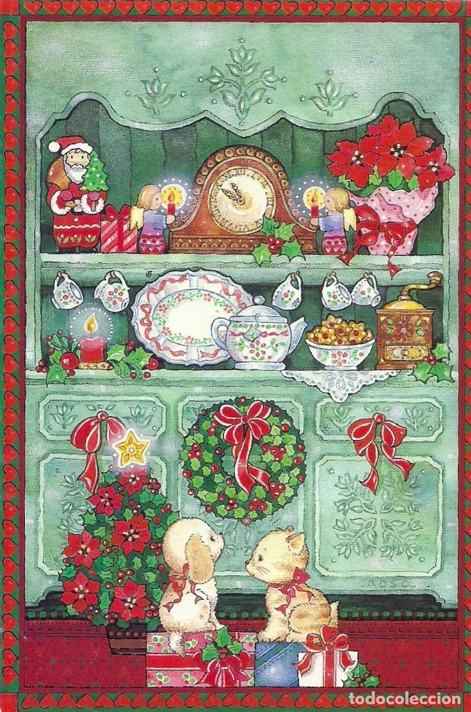 0836M - EDICIONES BUSQUETS 02.004.4053 - DIPTICA 17X11,5 CM ILUSTRA ROSA (BATLLE?) (Postales - Postales Temáticas - Navidad)