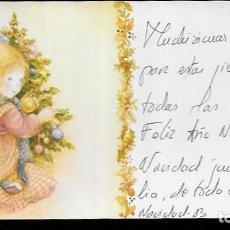 Postales: TARJETA NAVIDAD LISI * NIÑA ADORNANDO EL ARBOL * 1983. Lote 179035488