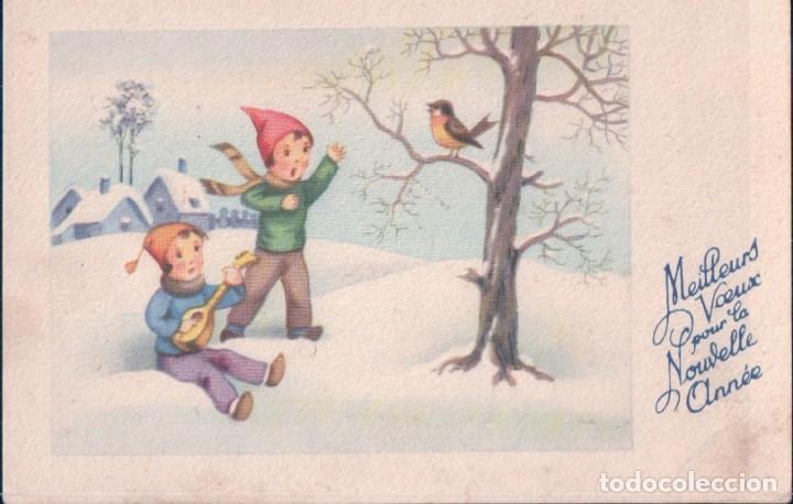 POSTAL NIÑOS JUGANDO EN LA NIEVE - FELIZ NAVIDAD - CHARME 920 (Postales - Postales Temáticas - Navidad)