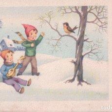 Postales: POSTAL NIÑOS JUGANDO EN LA NIEVE - FELIZ NAVIDAD - CHARME 920. Lote 179073345