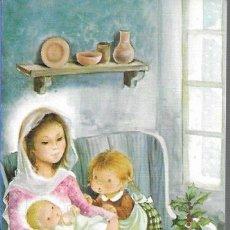 Postales: FELICITACION NAVIDAD CONSTANZA * LA VIRGEN CON JESÚS Y UNOS NIÑOS * 1983. Lote 179106796