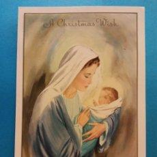 Postales: TARJETA NAVIDEÑA. A CHRISTMAS WISH. USADA. Lote 179126205