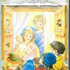 Postales: FELICITACION NAVIDAD CRIS * NIÑOS MIRANDO JESÚS, TRAVÉS DE LA VENTANA * 1992. Lote 179215111