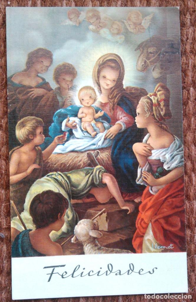 TARJETA DE NAVIDAD - ILUSTRACION VERNET (Postales - Postales Temáticas - Navidad)
