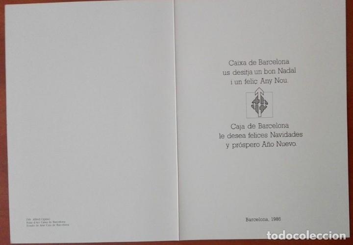 Postales: 0811L - OPISSO A. -FELICITACIÓN CAIXA DE BARCELONA -DIPTICA 20,5X14,5 CM - IMPRESO FONT + DIESTRE - Foto 2 - 180122312
