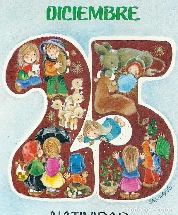 0813L - SALMONS - EDICIONES SABADELL SERIE BETLEM 02.02.113.3 - DIPTICA 13X9 CM (Postales - Postales Temáticas - Navidad)