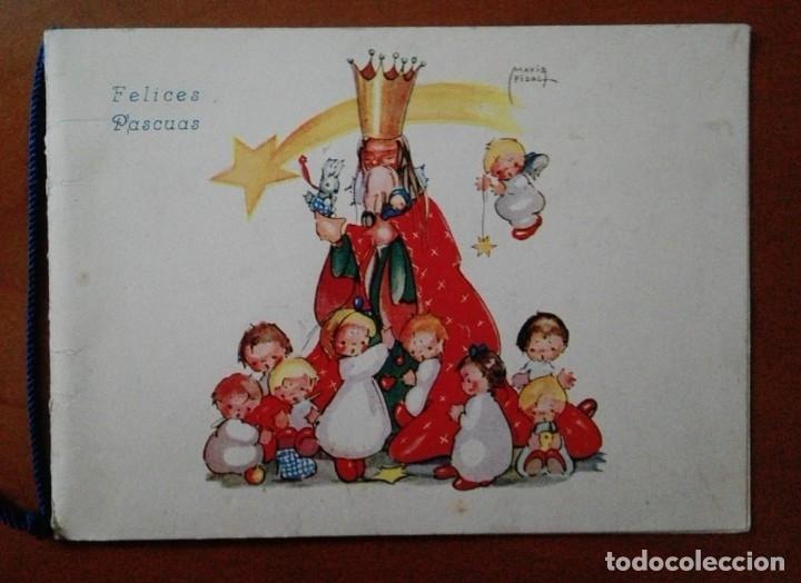 Postales: 0814L - MARIA PIDAL - ANTIGUA POSTAL NAVIDEÑA- DIPTICA 15X11 CM - DATA 1945 - Foto 2 - 180132648