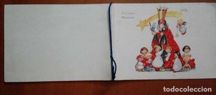 Postales: 0814L - MARIA PIDAL - ANTIGUA POSTAL NAVIDEÑA- DIPTICA 15X11 CM - DATA 1945 - Foto 4 - 180132648