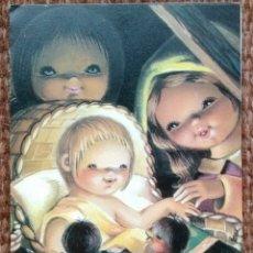 Postales: TARJETA DE NAVIDAD - ILUSTRACION ISABEL BURGOS. Lote 180153182