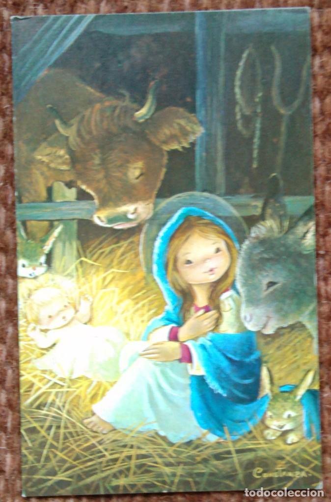 TARJETA DE NAVIDAD - ILUSTRACION CONSTANZA (Postales - Postales Temáticas - Navidad)